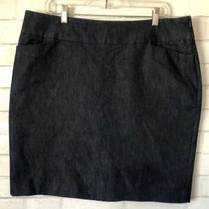 Womens Halogen Stretch Denim Pencil Skirt Size 16